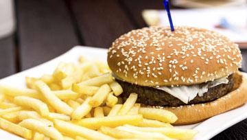 Hamburgers and pasties