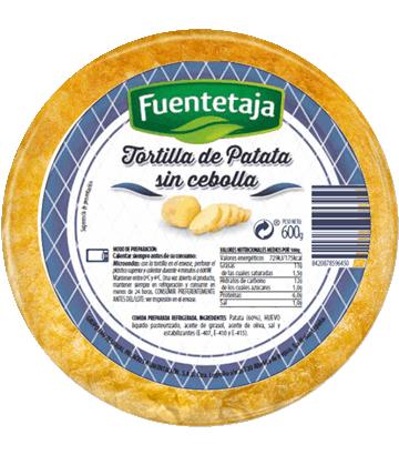 Medium onion-free fresh potato omelette