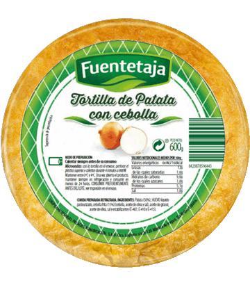 Medium fresh potato omelette with onion