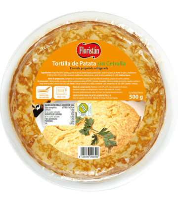 Medium onion-free potato omelette