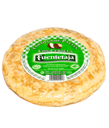 Pasteurised potato tortilla with onion