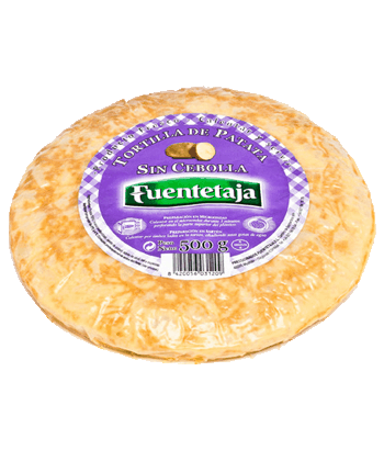 Pasteurised potato tortilla without onion