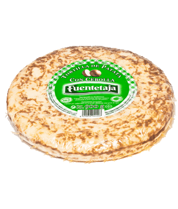 Pasteurised tortilla with onion
