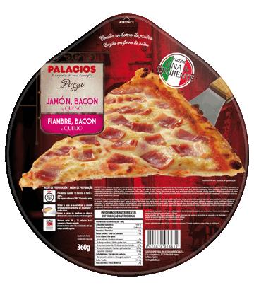 Ham, bacon & Cheese Originale Pizza