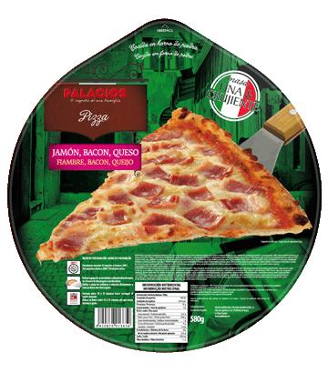 Ham, bacon & Cheese Familiar pizza